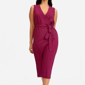 NWT Everlane Japanese GoWeave Wrap Dress Magenta 6